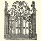 Vision Studio - O/S Wrought Iron Gate (new)