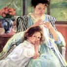 Mary S. Cassatt - Young Mother Sewing